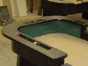 Craps table rails