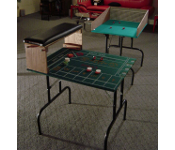 Throwing station and practice table